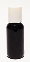 SNSET-1OZBBPETWDTL-1 Oz (~29ml) Black Boston PET Bottle with 20/410 White Disc Top Lid