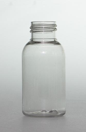 SNEP-50CLPETB-50ml Clear PET Boston Bottle 24mm 410 Screw Finish