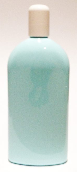 SNSET-23786-LIGHT BLUE PLASTIC BOTTLE, 500 ML PET ARCHED OBLONG WITH A 24/415 Tall Domed White Cap