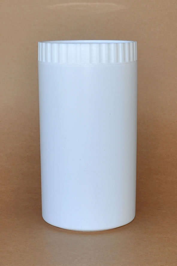 SNSETEJTH1000W-1000ml Tall White HDPE Jar with White Ribbed Lids