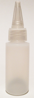 SNSB1OZCYNCSC-1 Oz (~29.6ml) Natural Squeezer Cylindrical Bottle with square shoulder with Natural Conical Sprout Cap