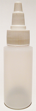 SNSB1OZCYWTTL-1 Oz (~29.6ml) Natural Squeezer Cylindrical Bottle with square shoulder with White Twist Top Lid