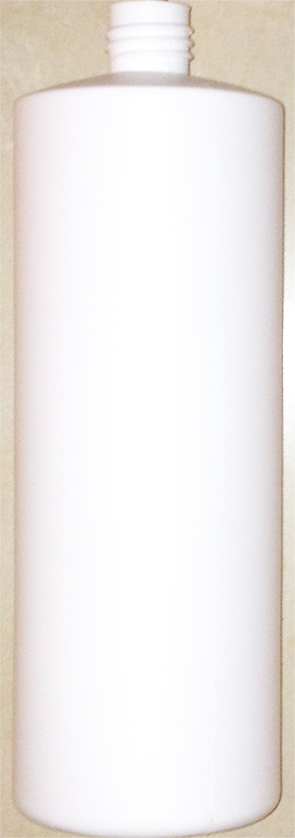 SNEP-50995W-1000ml White HDPE Round Bottle (Square Shoulder) 28mm Screw Finish