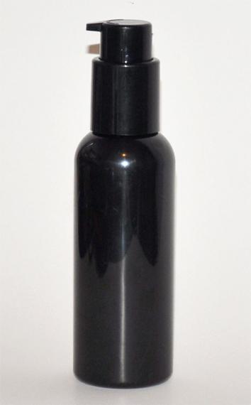 SNSET-125BPETBBCP-125ml Black Boston PET bottle with Black Cosmetic Pump 24/410