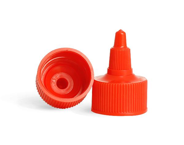 SNDD-2534-01 Plastic LDPE Red Twist Top Cap 28/410