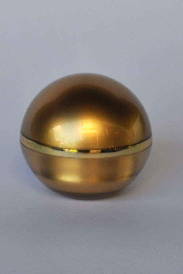 CBJ50-Cosmetic Glode Jar-50g-Gold with Metallic Gold Ring (With Lid)