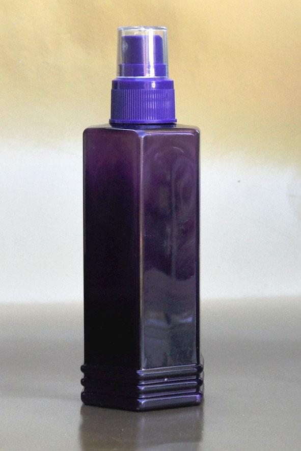 SNSET-250HEXPETPPFMS-250ml Hexagonal PET Purple Bottle with Purple Fine Mist Sprayer 24/410