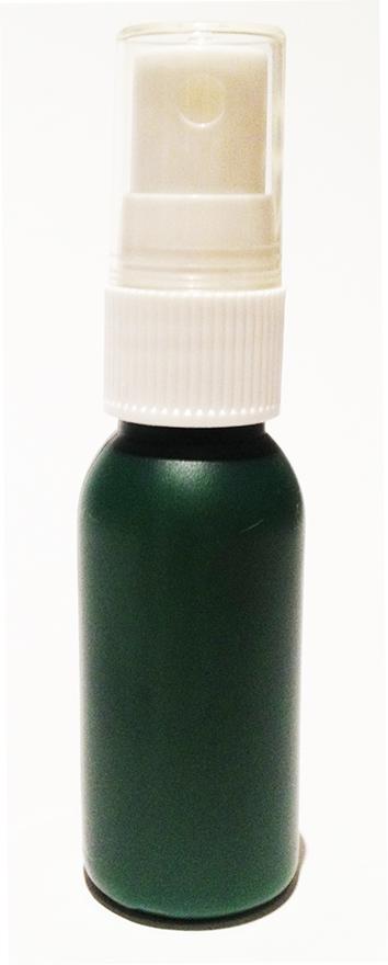 SNSET-4237-30ml Dark Green HDPE Boston Bottle with 18/415 White Fine Mist Sprayer