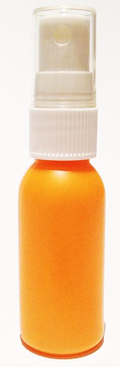 SNSET-4243-30ml Orange HDPE Boston Bottle with 18/415 White Fine Mist Sprayer