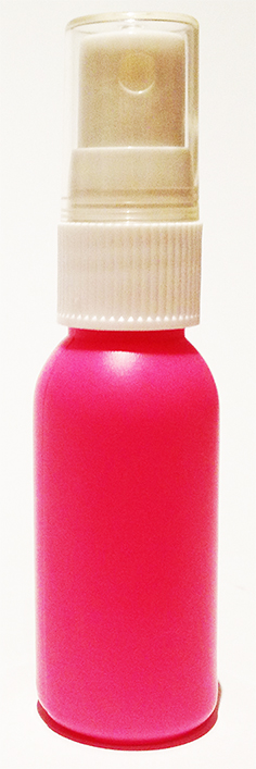 SNSET-4239-30ml Pink HDPE Boston Bottle with 18/415 White Fine Mist Sprayer