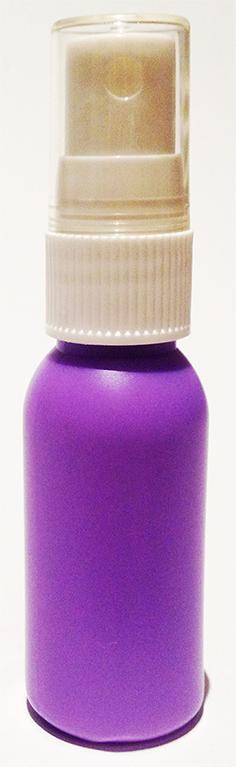 SNSET-4238-30ml Purple HDPE Boston Bottle with 18/415 White Fine Mist Sprayer