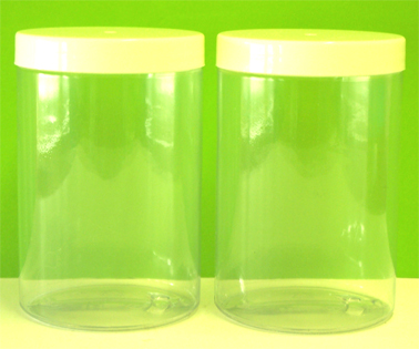 Plastic Jar 500g Clear with White Plastic Lid
