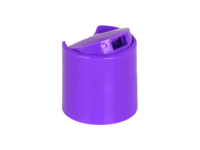 """SNDD-26890-PURPLE DISPENSING CAP, SMOOTH DISC-TOP CLOSURE WITH A 28/410 FINISH AND A .330"""" ORIFICE"""