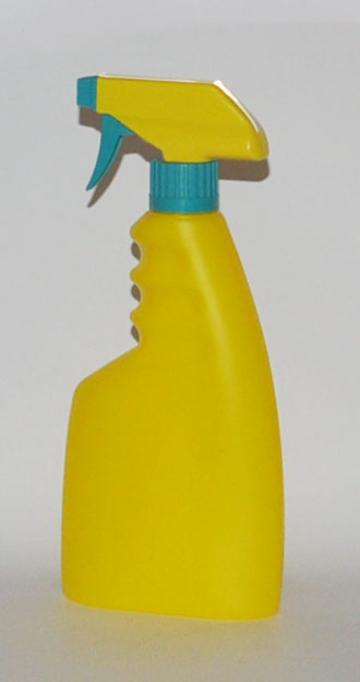 SNSET500YTYGS-500ml Yellow trigger bottle with 28/410 Yellow/Green Sprayer