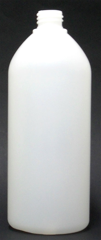 SNEP-50998-1000ml Natural HDPE Boston Bottle 28mm 410 Finish