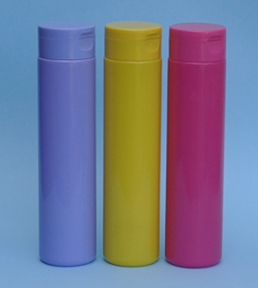SNSET-THYPETCY250FTL-250ml Yellow PET Cylindrical bottle with matching Flip Top Lid