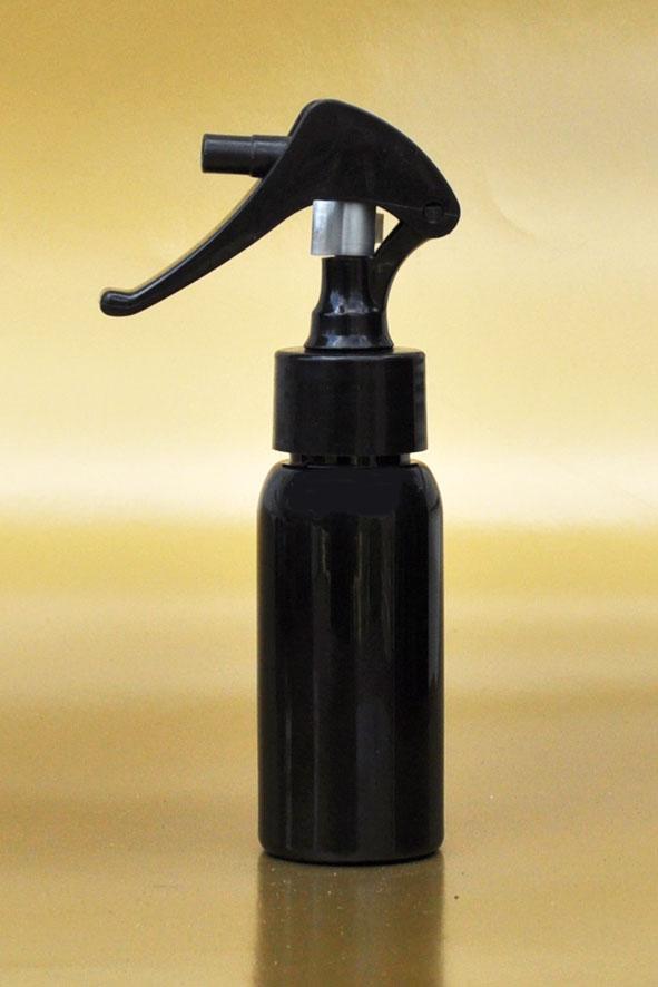 SNSET-50BBPETBSNS-50ml Black Boston PET Bottle with Black Swan Neck Sprayer 24/410