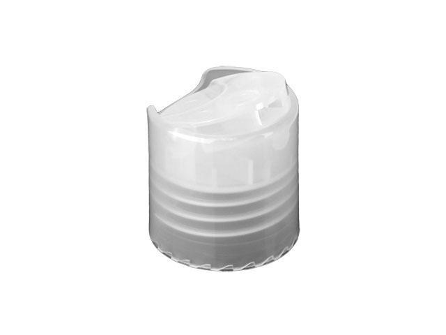 SNDD-18740-NATURAL DISPENSING CAP, SMOOTH DISC-TOP CLOSURE WITH A 24/410 FINISH