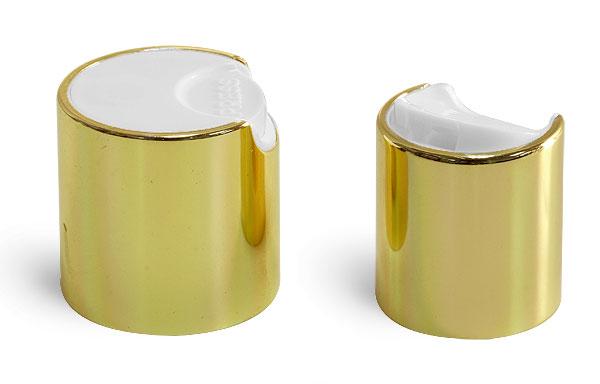 SNDD-2526-Metallic Gold Disc Top Dispensing Cap 24/410 Closure