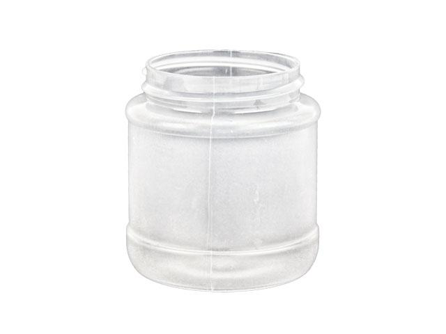 SNEJ-27058-NATURAL PLASTIC JAR, 4 OZ. PP SINGLE WALL ROUND WITH A 48/400 FINISH, MATTE FINISH, ROUND BASE, LABEL PANEL