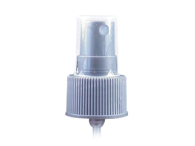 """SILVER FINE MIST SPRAYER, 24/410 RIBBED FINISH WITH A CLEAR HOOD AND A 3 7/8"""" DIP TUBE"""