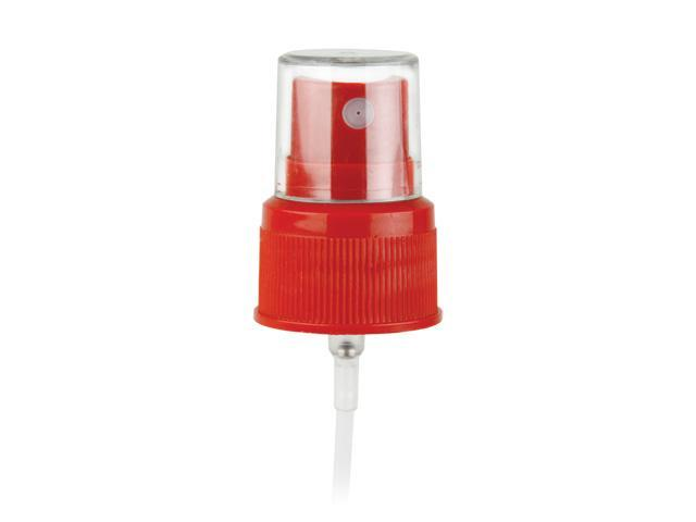 """SNHF-24178-FINE MIST SPRAYER-RED, 24/410 FINISH, SEAMIST, WITH A CLEAR HOOD AND A 6 1/8"""" DIP TUBE"""