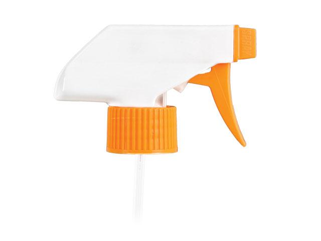 """SNHT-22578-TRIGGER SPRAYER, 28MM Neck, TS-800 SPRAY/STREAM/OFF WITH AN 9 and 1/8"""" DIP TUBE-ORANGE/WHITE"""