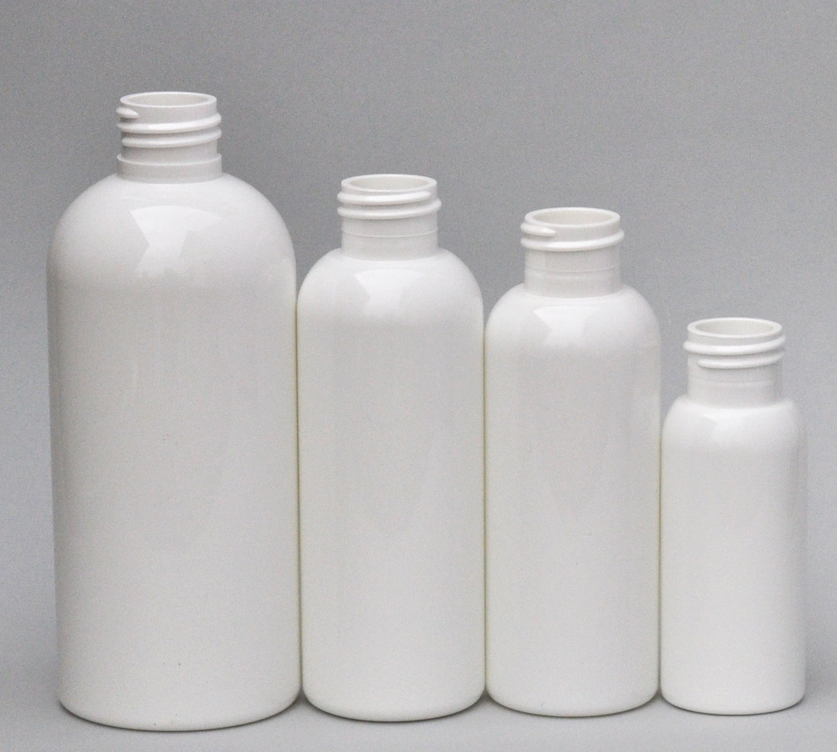 SNEP-125BPETW-125ml White PET Boston Bottle with 24/410 Neck