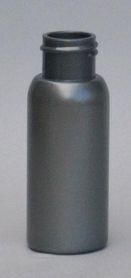 SNEP-50BPETS-50ml Silver PET Boston Bottle with 24/410 Neck