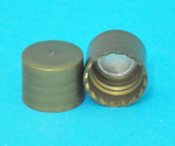 SNDR-25855-Gold Lid-continuous thread-with Easy Open Seal Liner-for 18/415 size neck