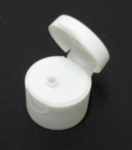 SNDR-FTW28410-WHITE FLIP TOP PLASTIC CAP, FINE RIBBED CLOSURE WITH A 28/410 FINISH