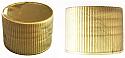 Matt Gold Fine Ribbed Continuous Thread Plastic Screw Top Cap 24/410