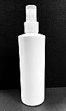 SNSET-250WTBPETNFMS- 250ml White Cylindrical PET Bottle with Natural Fine Mist Sprayer 24/410