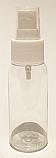 SNSET-50CBPETWFMS-50ml Clear Boston PET Bottle with White Fine Mist Sprayer 24/410