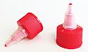 Hot Red Natural Plastic Twist Top Cap 24/410