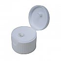 FLIP TOP PLASTIC CAP WHITE FINE RIBBED CLOSURE WITH A 24/410 FINISH SNDR-FTW24410