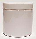 SNJPET500WW-500ml White PET Plastic Jar with 89/400 White Lid