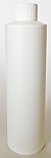SNSET-250WCSQHDPEWFRSTC-250ml White HDPE Cylindrical Bottle with Square Shoulder and 24/410 White Fine Ribbed Screw Top Cap