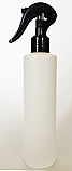 SNSET-250WCSQHDPEBSNS-250ml White HDPE Cylindrical Bottle with Square Shoulder and 24/410 Black Swan Neck Sprayer