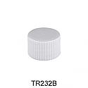 WHITE PLASTIC CAP, FINE RIBBED CLOSURE WITH A 24/410 FINISH