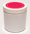 SNJPET500WWP-500ml White PET Plastic Jar with 89/400 White/Hot Pink Lid