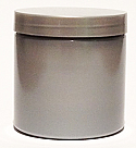 SNJPET500SS-500ml Silver PET Plastic Jar with 89/400 Silver Lid