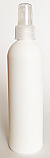 SNSET-250WBHDPECFRFMS-250ml White HDPE Boston Bottle with 24/410 Clear Fine Ribbed Fine Mist Sprayer
