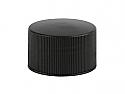 SNDR-BFRCTC24410-Black Fine Ribbed Continuous Thread Screw Top Cap 24/410